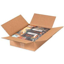 "20"" x 20"" x 4"" Plain Brown Corrugated Shipping Box, 32 ECT, 20/Bundle"