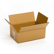 "8"" x 6"" x 4"" Plain Brown Corrugated Recycled Corrugated Single Wall Box, 32 ECT, 25/Bundle"