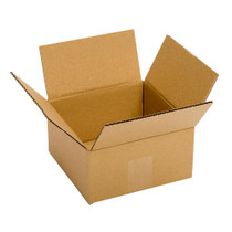 "6"" x 6"" x 4"" Plain Brown Corrugated Recycled Corrugated Single Wall Box, 32 ECT, 25/Bundle"