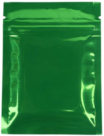 "100 Pack- 2 oz, 4""x6"" Airtight Zipper Stand up Pouch, Barrier Bag - Heat Seal-able Zip Lock (Matt Green/Clear)"