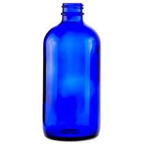 16 oz Cobalt Blue Glass Bottle with 28-400 neck finish