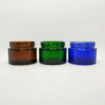 1 oz Glass Green Cream Jar with White Insert and Black Lid - pack of 24