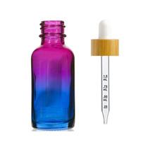 1 oz Multifade Glass Bottle w/ White-Bamboo Dropper