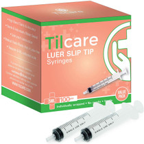 5ml Syringe Without Needle Luer Slip 100 Pack - Sterile Plastic Medicine Droppers for Children, Pets & Adults – Latex-Free Medication Syringe Without Needle