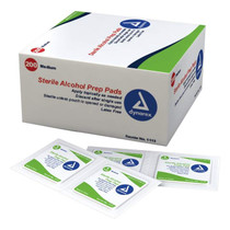 Dynarex Latex Free Sterile Disposable Alcohol Preparation 600 Pads - Medium