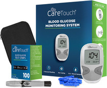 Care Touch Diabetes Testing Kit  Care Touch Blood Glucose Meter, 100 Blood Test Strips, 1 Lancing Device, 30 gauge Lancets-100 count and Carrying Case