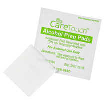 Care Touch CTAP100-VC Sterile Alcohol Prep Pads, 2-Ply - 100 Wipes