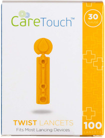 Care Touch Twist Top Lancets 30 Gauge, 300 Lancets