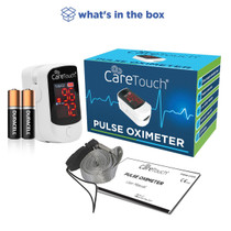 Care Touch Fingertip Pulse Oximeter – Heart Rate and Oxygen Saturation (Sp02) Monitor – Portable and Great for Health Enthusiasts and Nurses—Batteries and Lanyard Included