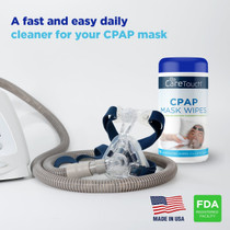 Care Touch CPAP Cleaning Mask Wipes - Unscented, Lint Free - 70 Wipes, Pack of 3-210 Wipes Total