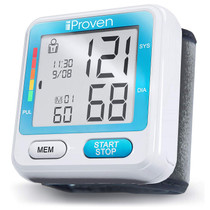iProven Blood Pressure Machine - BP Cuff for Wrist - with 2x90 Memories - Blood Pressure Cuff - Protective Case and Batteries Included - BPM-317 Wrist Blood Pressure Monitor