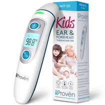 iProven Forehead Thermometer for Kids - Revolutionized 2019 Infrared Technology - Clinical Accuracy - Instant Read Thermometer for Kids with Ear Mode - DMT-511