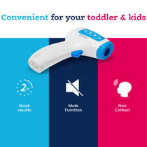 Non Contact Thermometer - Measure at 2-6 Inch Distance - Baby (infant), Kids, and Adults Forehead Thermometer - NCT-336BLU