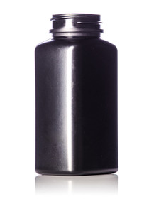 190 cc black HDPE oblong pill packer bottle with 38-400 neck finish