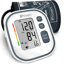 Digital Automatic Blood Pressure Monitor - Upper Arm Cuff - Large Screen - Accurate & Fast Reading Electronic Machine - Approved and Top Rated BP Monitors and Cuffs - iProven BPM-634 - for Home Use
