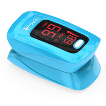 Pulse Oximeter Fingertip - Blood Oxygen (O2) Saturation Level Monitor - with Heart Rate Detection - Oximetro De Pulso - Finger Oximeter with Pulse Indicator - Best Accuracy by iProven OXI-27 Blue