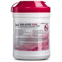 "PDI Sani-Cloth Plus Germicidal Cloth, Pack of 160, 6"" x 6-3/4"" Large Wipes"