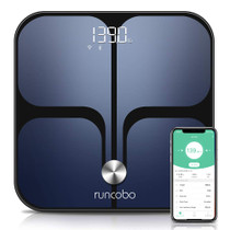 Greatergoods Smart Scale Bluetooth Connected Body Weight Bathroom Scale Bmi Body Fat Muscle Mass Water Weight Fsa Hsa Approved Black Stainless Premium Vials