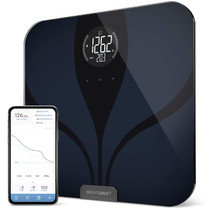 GreaterGoods Bluetooth Connected Body Fat Bathroom Smart Scale (LCD Black)