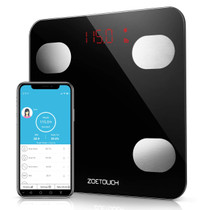 ZOETOUCH Body Fat Scale, Body Composition Monitor, Smart Bathroom Scale Digital Weight Scale Compatible with iOS and Android, Sync Data with Apple Health, Google Fit & Fitbit APP, Up to 396lb