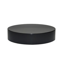 51-400 Black Phenolic Smooth Flat Caps - Pack of 160