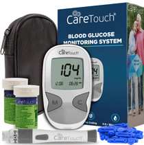Care Touch Diabetes Blood Sugar Kit  Care Touch Blood Glucose Meter, 100 Blood Test Strips, 1 Lancing Device, 30 Gauge Lancets-100 Count, Control Solution and Carrying Case