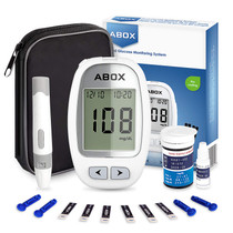 Blood Glucose Meter Kit, ABOX Glucose Monitoring Kit Diabetes Testing Kit with 25 Test Strips, 25 Lancets and Everything You Need to Test Blood Sugar Level