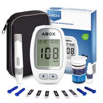 Blood Glucose Meter Kit, ABOX Glucose Monitoring Kit Diabetes Testing Kit with 25 Test Strips, 25 Lancets and Everything You Need to Test Blood Sugar Level