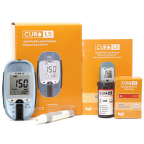 Blood Total Cholesterol Test Kit - Curo L5 Digital Meter - (10 Total Cholesterol Strips Included)