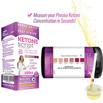 Nurse Hatty - Fresh Batches of 150 High Performance Keto Strips Restocked Weekly - Made in USA - Ketone Test Strips Perfect for Ketogenic, Low Carb, Atkins & Paleo Diets + Free eBook - 100ct + 50 Free