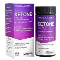 Ketone Test Strips 150ct - Test Your Ketosis Levels in 15 Seconds Using Urinalysis. Accurate Results to Guarantee You Lose Weight & Feel Great on a Ketogenic, Diabetic, Paleo or Low Carb Diet
