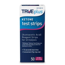 TRUEplus® Ketone Test Strips – Ideal for Low-carb dieters and People with Diabetes – Made in USA–Urinalysis Test Sticks (50)