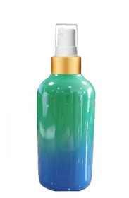 1 Oz Sage Green and Blue Multi-fade Bottle w/ White - Gold Fine Mist Sprayer