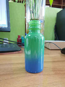 1 Oz Sage Green and Blue Multi-fade Bottle w/ White Fine Mist Sprayer