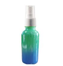 1 Oz Sage Green and Blue Multi-fade Bottle w/ White Fine Mist Sprayer