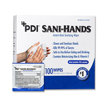 """PDI D43600 Sani - Hands Alcohol Wipes -, 1000 Wipes, 5"""" x 8"""", Individual Packets"""