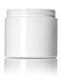 16 oz white PET single wall jar with 89-400 neck finish- Case of 245