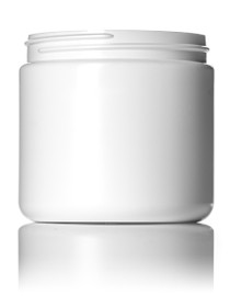 16 oz white HDPE single wall jar with 89-400 neck finish- Case of 168