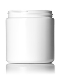8 oz white HDPE single wall jar with 70-400 neck finish- Case of 320