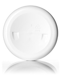 8 oz white HDPE single wall jar with 70-400 neck finish- Case of 320
