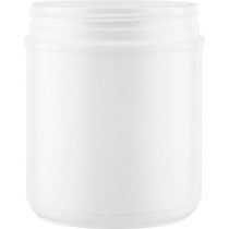 55 oz white HDPE wide-mouth container with 120 mm triple thread neck finish- Set of 76