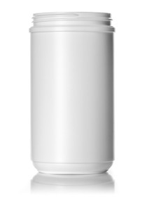 ($.93 ea) 32 oz white HDPE single wall canister with 89-400 neck finish- Case of 108