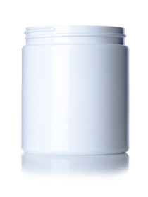 ($.52 ea) 19 oz white PET single wall jar with 89-400 neck finish- Case of 175