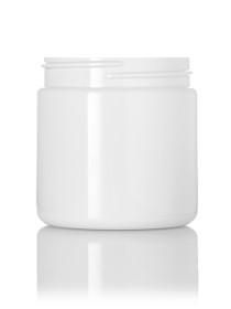 ($.41 ea) 4 oz white PET single wall jar with 58-400 neck finish-Case of 250