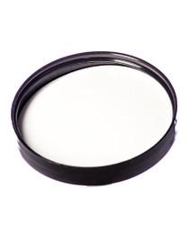 70-400  Neck Black PP  smooth skirt lid with printed pressure sensitive (PS) liner - Bag of 500