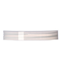 Natural-colored PP 70-400 smooth skirt lid with foam liner