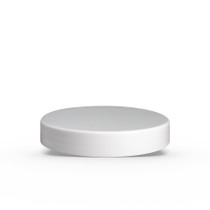 89-400  Neck White PP 89-400 smooth skirt lid with foam liner - set of 100