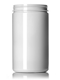 ($1.08 ea) 32 oz white PET single wall jar with 89-400 neck finish- Case of 105