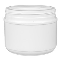 36 oz white HDPE wide-mouth container with 120TT neck finish