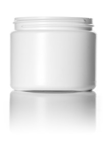 ($.41 ea) 6 oz white HDPE single wall jar with 70-400 neck finish- Case of 400